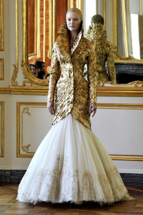 Alexander mcqueen feather wedding dresses
