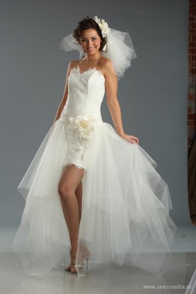 Платье канкан свадебное