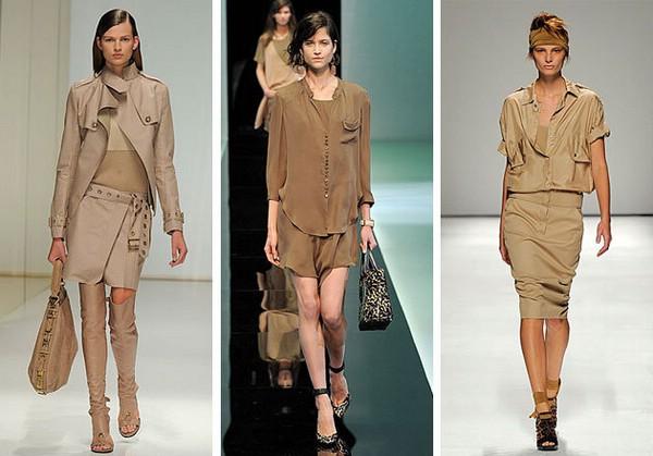 Значительно сдавшие свои позиции платья-рубашки опять актуальны. Лаконичное, в стиле сафари с многочисленными карманами или в стиле милитари