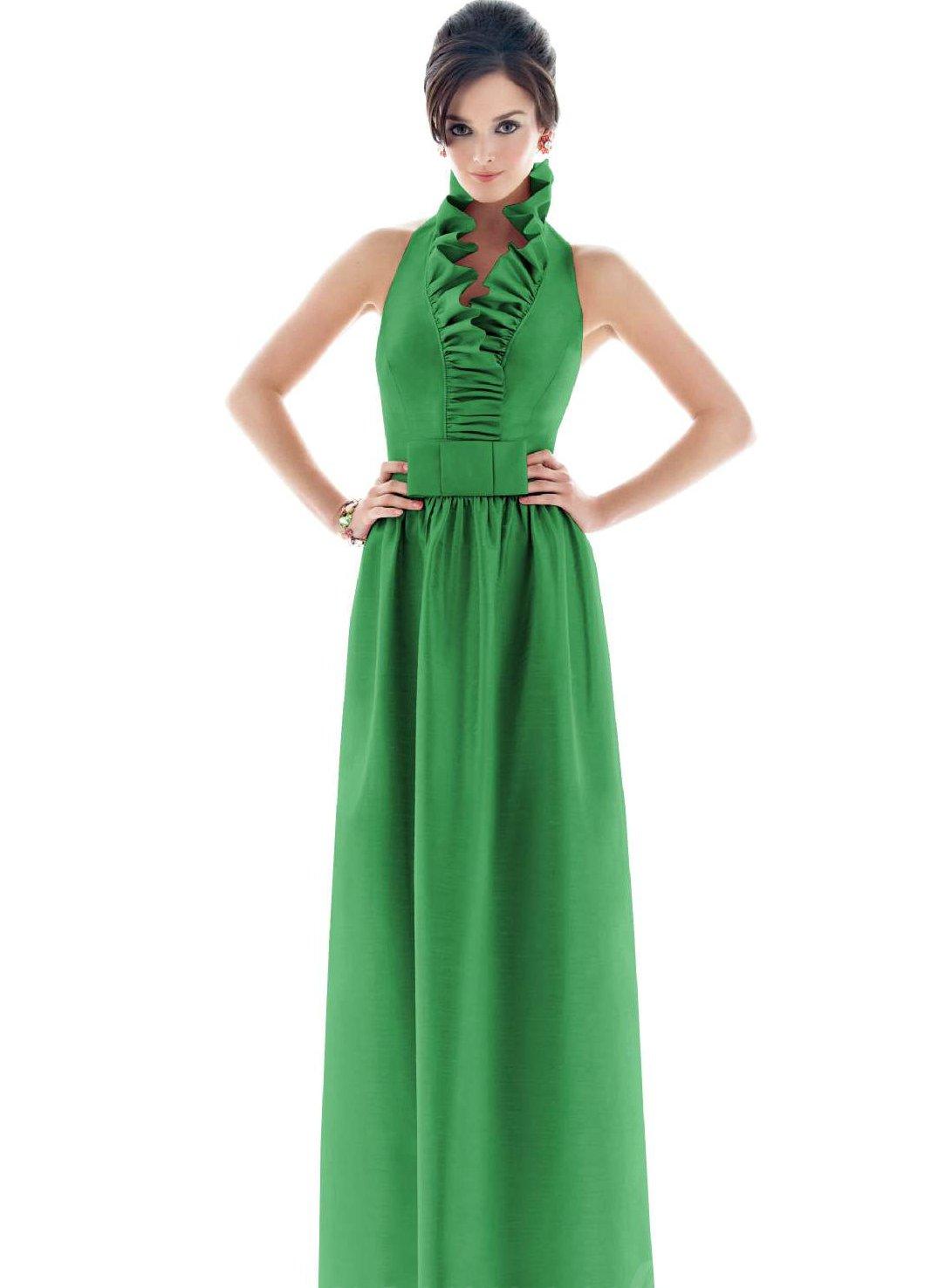 Красивые зеленые платья длинные