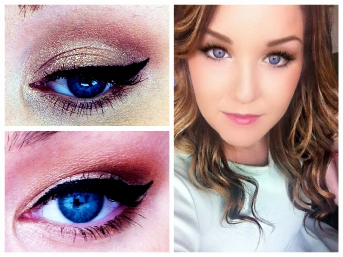 Bright blue eye makeup