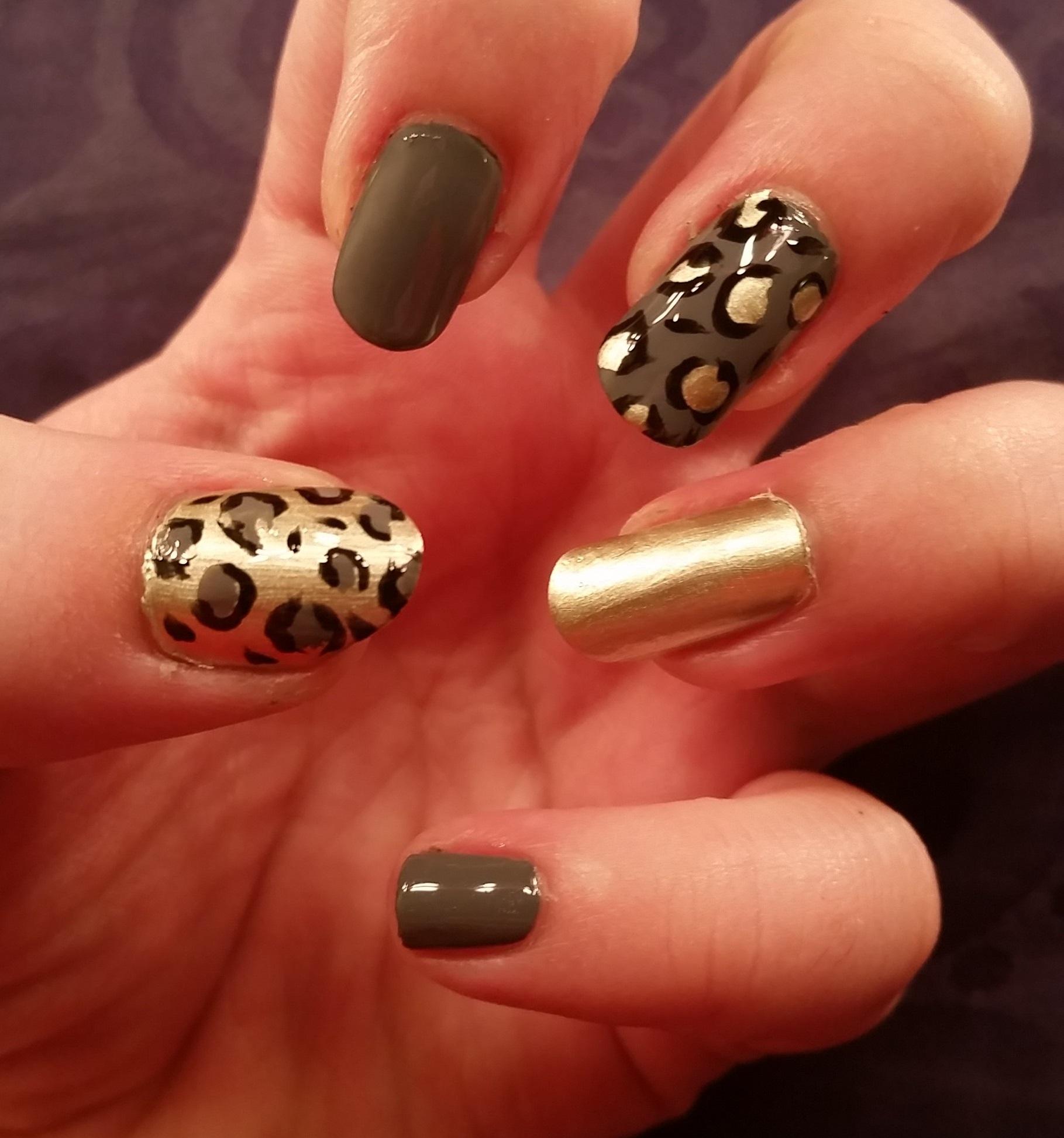 Дизайн ногтей леопард фото
