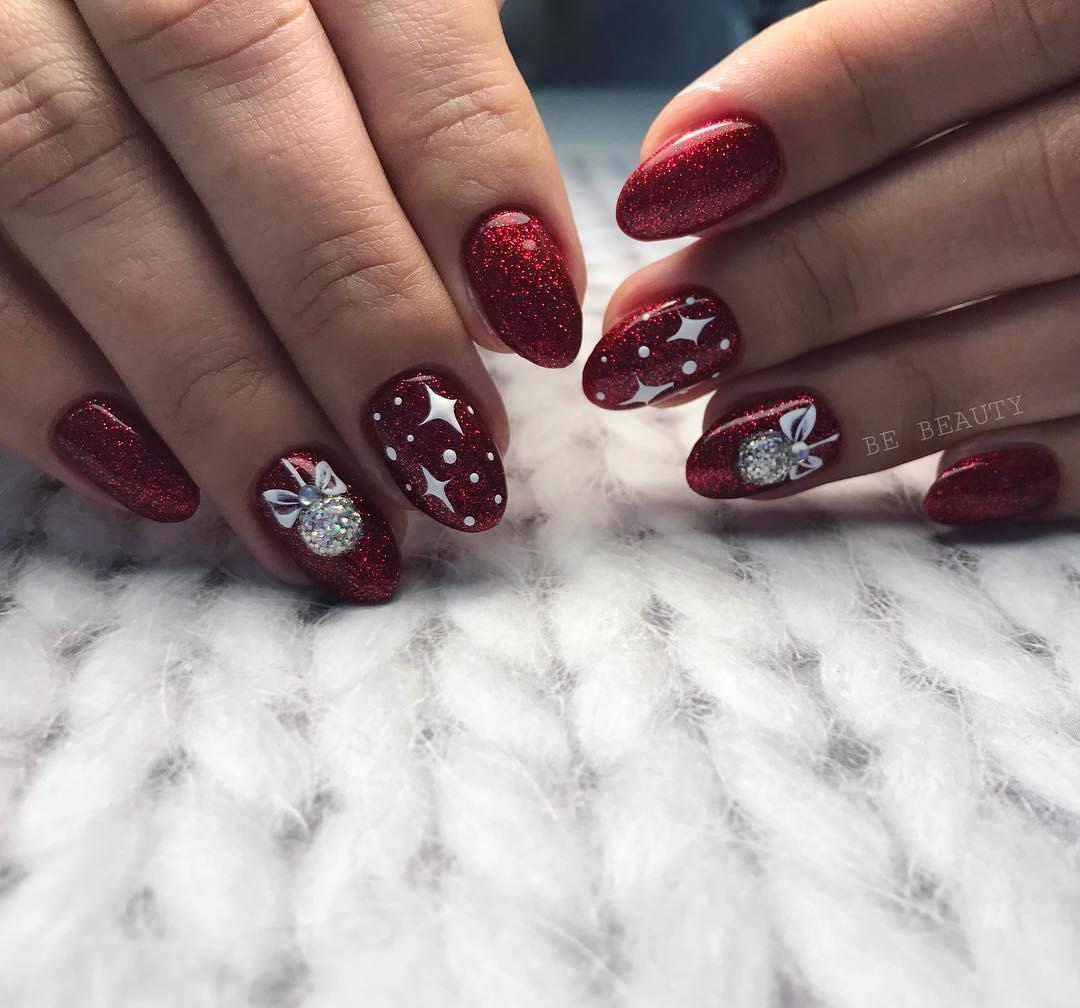 Дизайн новогодних ногтей 2020 фото новинки