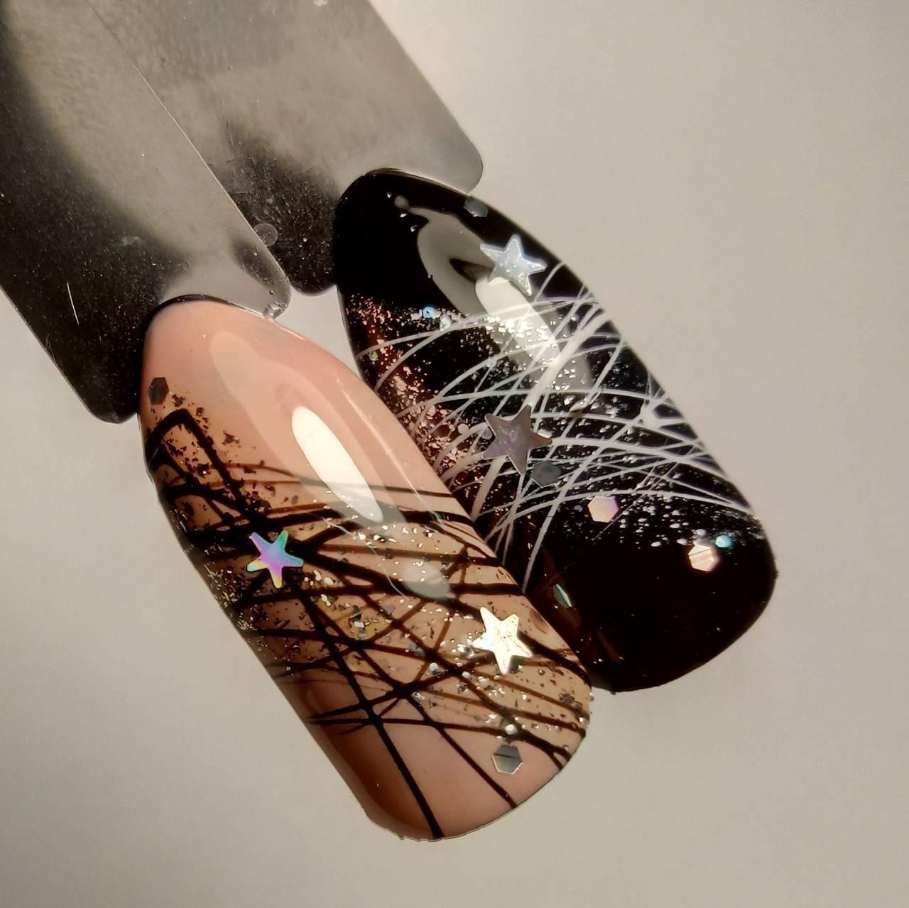 Дизайн ногтей с гелем паутинка фото
