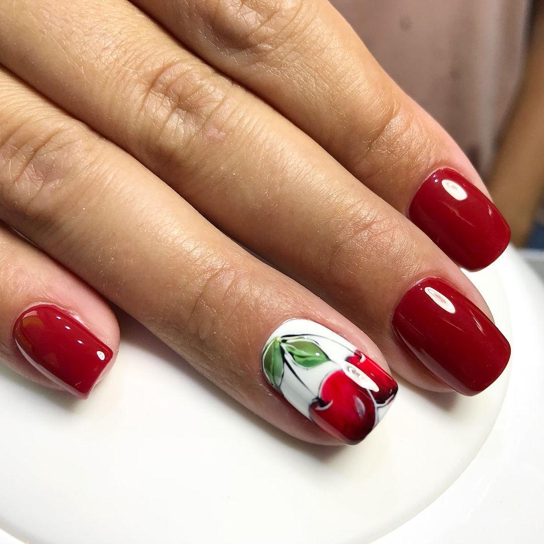 Дизайн ногтей вишни фото
