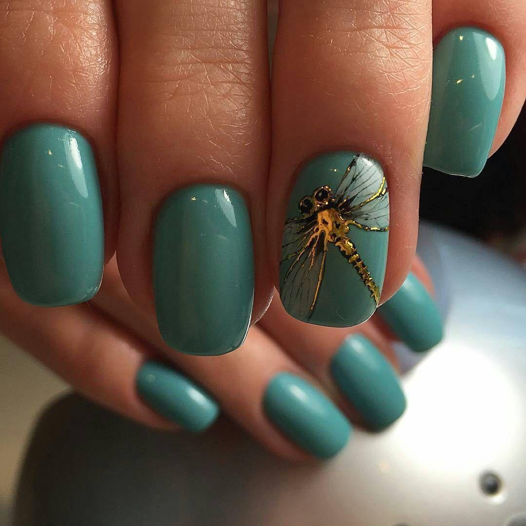 Маникюр стрекоза на ногтях (27 фото)