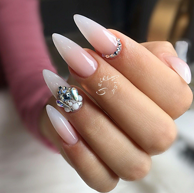 Ногти острые френч фото красивые