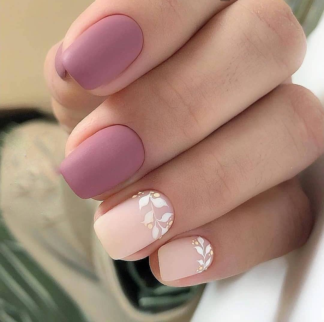 Маникюр на короткие ногти нежные фото весна