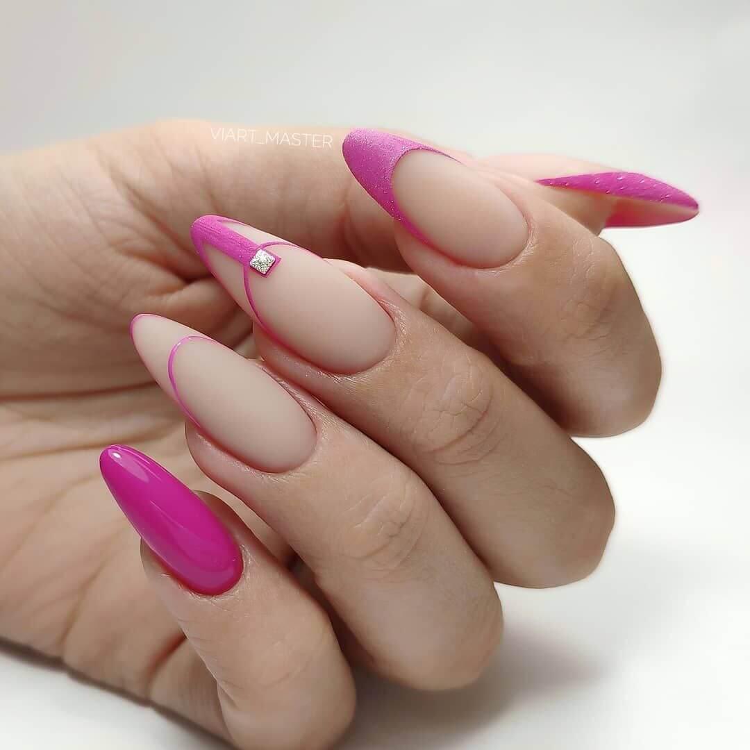 Миндальная форма ногтей фото как сделать