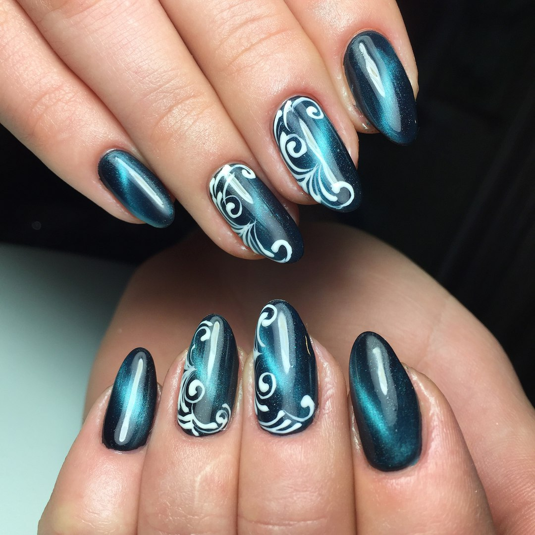 Маникюр кошачий глаз - 66 фото новинок модного дизайна ногте