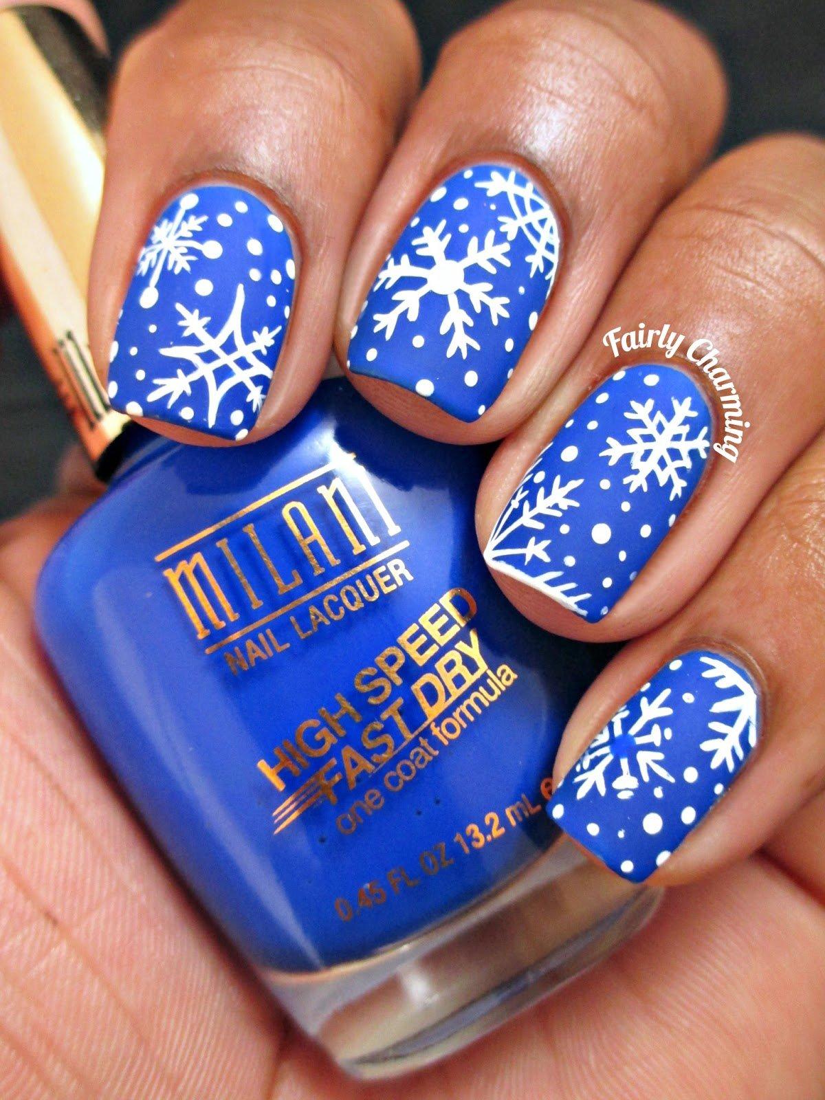 30+ Trendy Snowflake Nails Of 2019 Christmas Oje fikirleri,