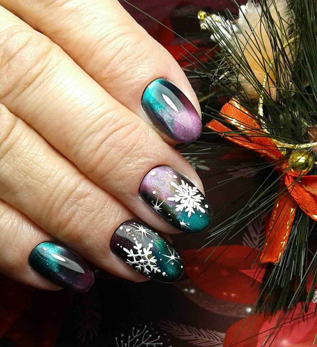 Новогодние ногти фото