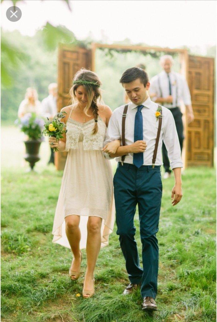 кэжуал образ на свадьбу