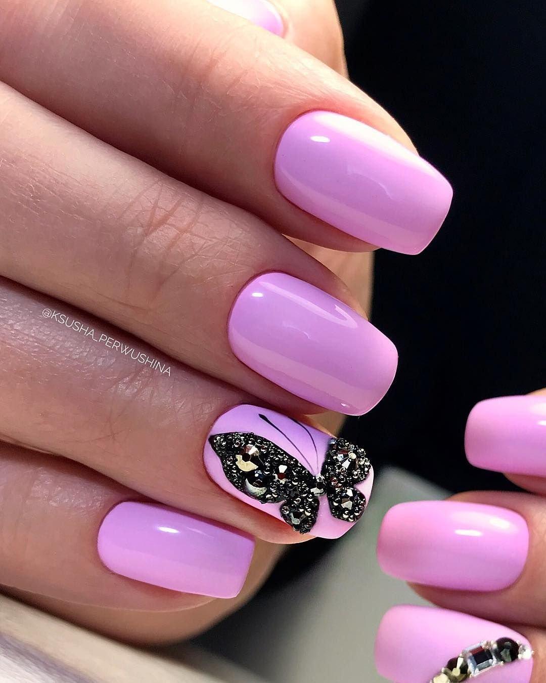 Дизайн ногтей в розовых тонах фото
