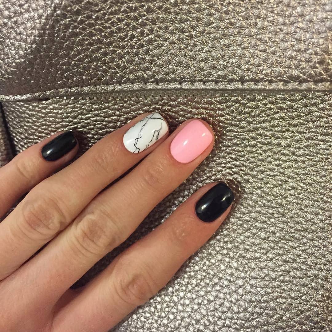 Красивые ногти обычным лаком фото