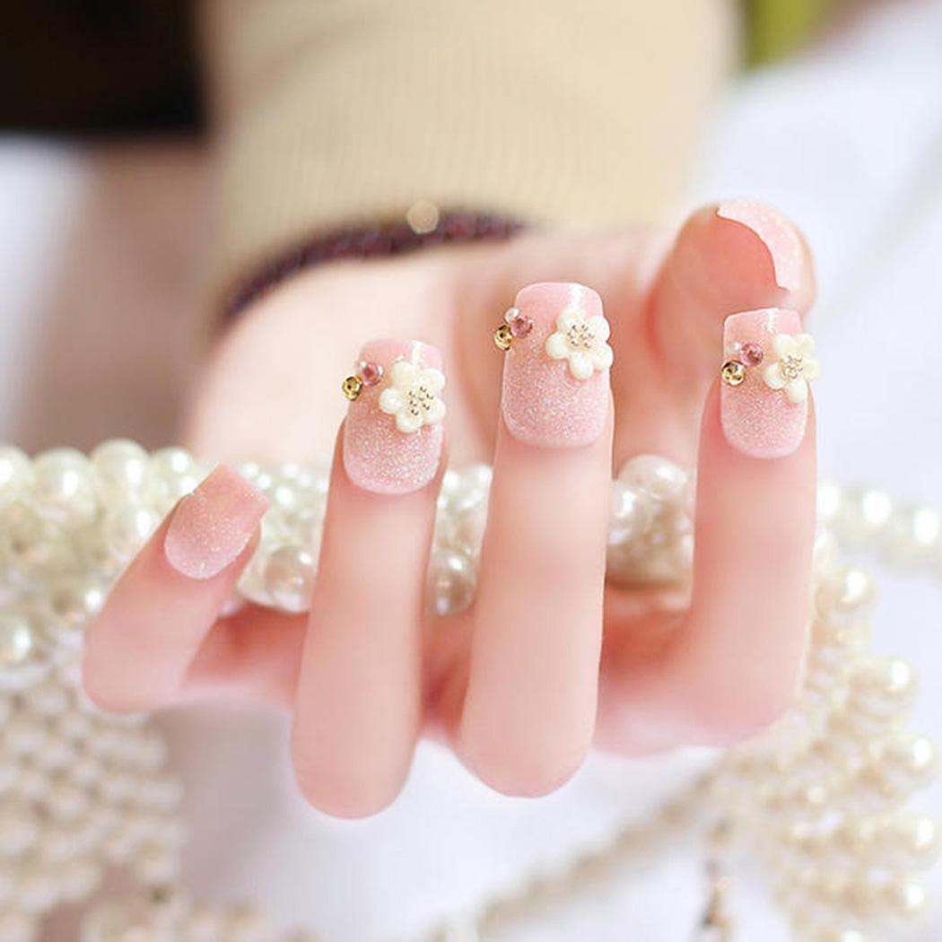 Ногти на свадьбу фото короткие