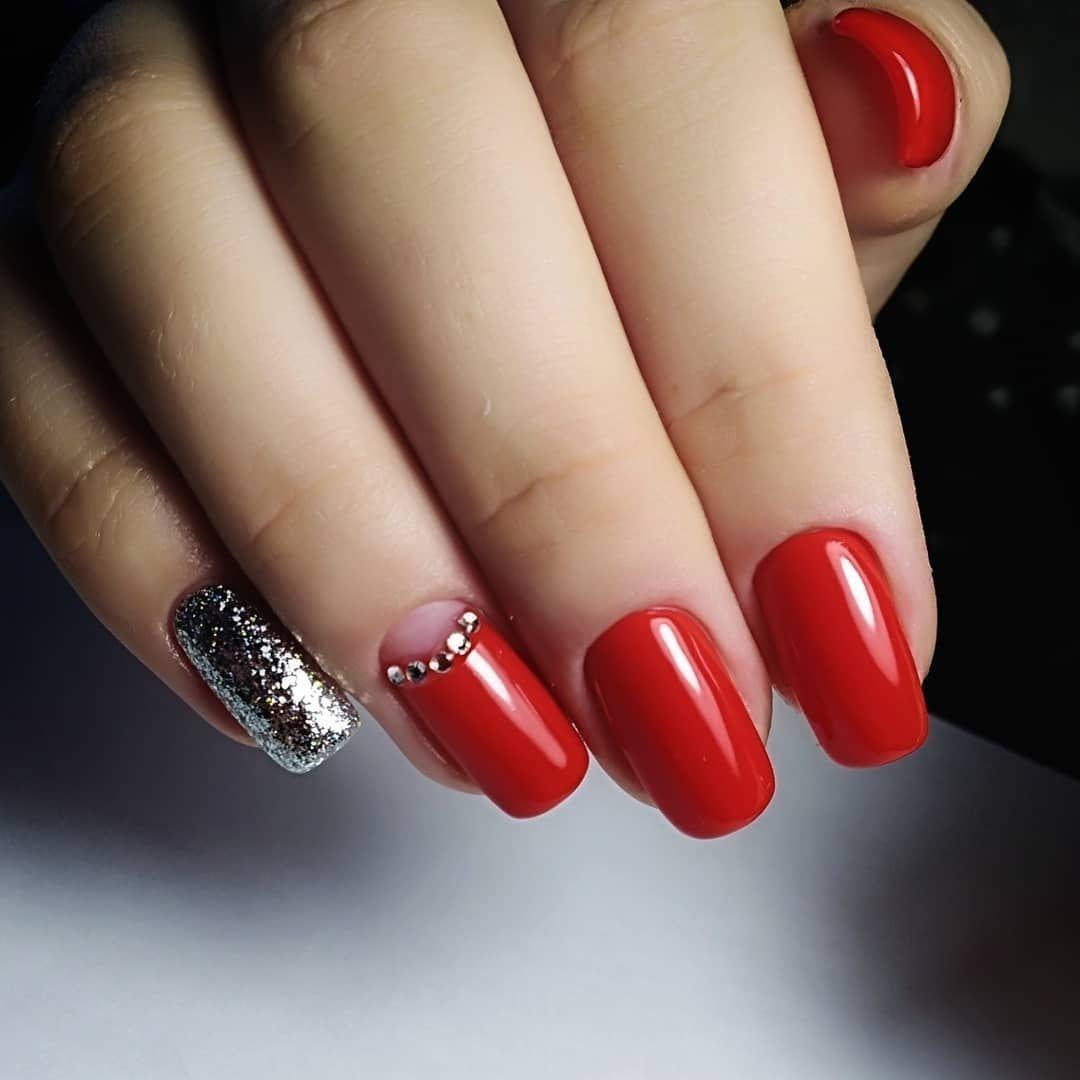 Красивый маникюр красные ногти фото