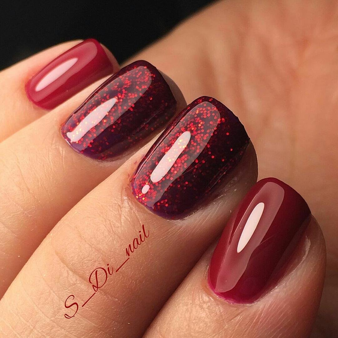Ногти цвета вишня фото дизайн