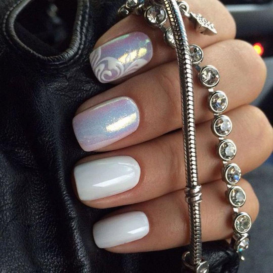 Дизайн ногтей с втиркой фото