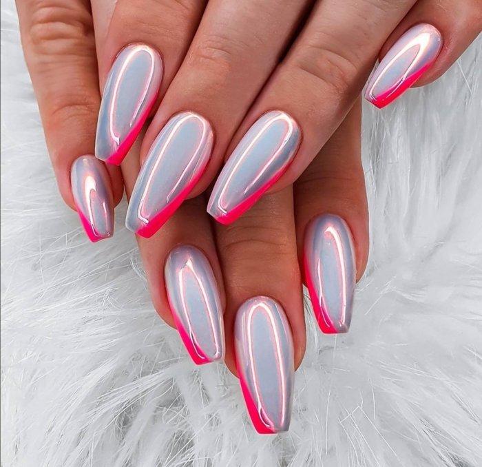 Розовые ногти ноябрь 2020