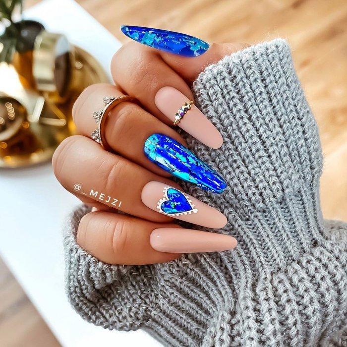 Ногти 2021 года на новый год ногти длинные