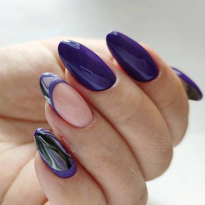 Дизайн круглых ногтей 2020