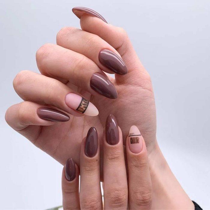 Ногти в 2020 году коричневые