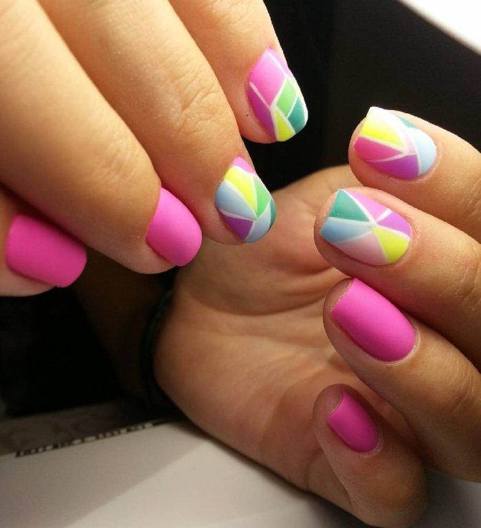 Ногти летние разноцветные